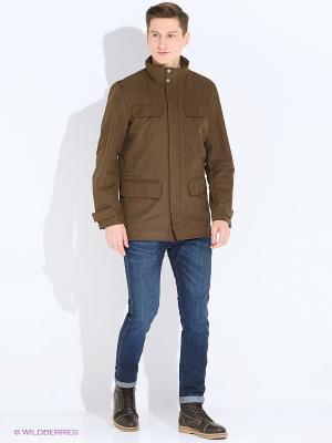 Куртка GEOX. Цвет: коричневый