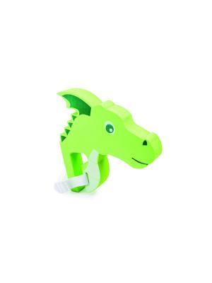 Голова дракона для руля велосипеда Flying Dragon Donkey. Цвет: зеленый