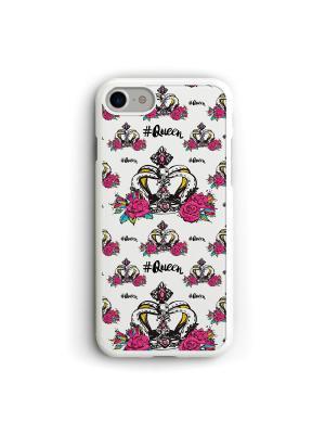Чехол для iPhone 7/8 Королева Boom Case. Цвет: розовый, белый