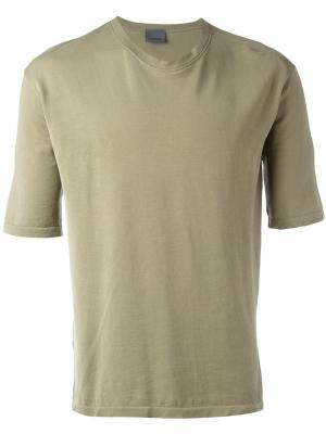 Классическая футболка Laneus. Цвет: зелёный