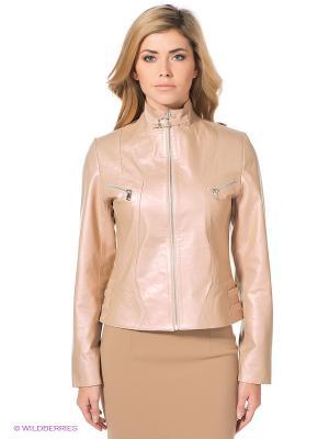Куртка STEFANO FERRI. Цвет: розовый, бежевый