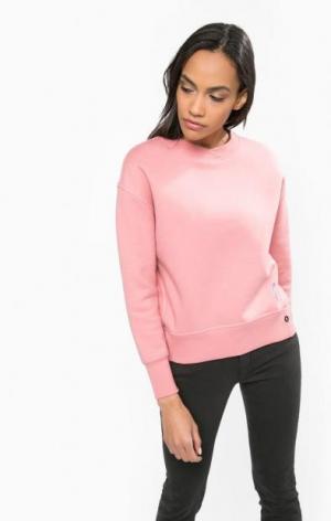 Свитшот розового цвета с вышивкой Calvin Klein Jeans. Цвет: розовый