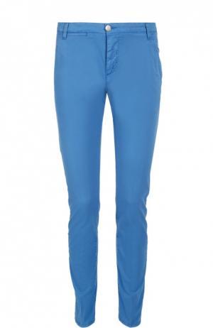 Слаксы из эластичного хлопка 2 Men Jeans. Цвет: голубой