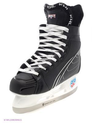 Коньки хоккейные KHL Sniper 1/5. Цвет: черный, белый, красный