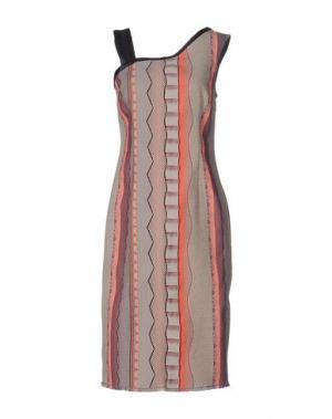 Платье до колена PAOLA FRANI. Цвет: бежевый