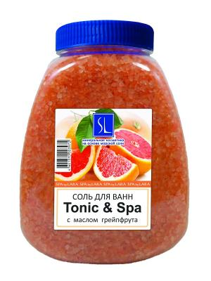 Spa by Lara Соль морская для ванн с растительными эстрактами Tonic & 1000 г. Цвет: оранжевый