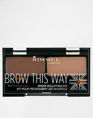 Rimmel London Набор для бровей Brow This Way. Цвет: коричневый