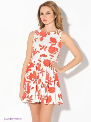 Платье AX Paris. Цвет: белый, красный