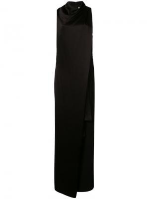 Draped gown Halston Heritage. Цвет: чёрный