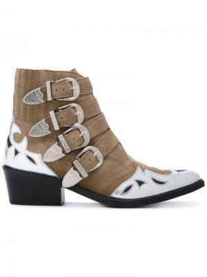 Декорированные ботинки Toga Pulla. Цвет: коричневый