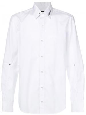 Рубашка с вышивкой Icosae. Цвет: белый