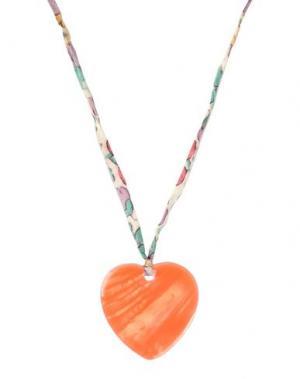 Ожерелье AURÉLIE BIDERMANN. Цвет: лососево-розовый