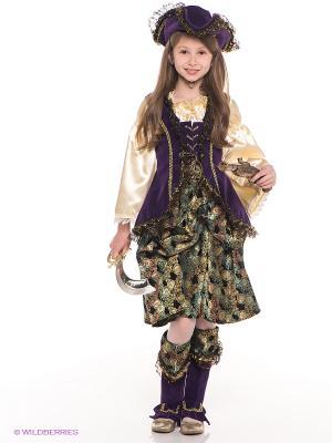 Карнавальный костюм Капитанша Батик. Цвет: фиолетовый