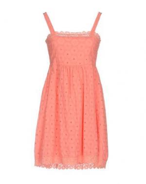 Короткое платье JUST FOR YOU. Цвет: коралловый
