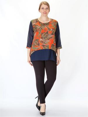 Блузка HELLO MODA!. Цвет: оранжевый