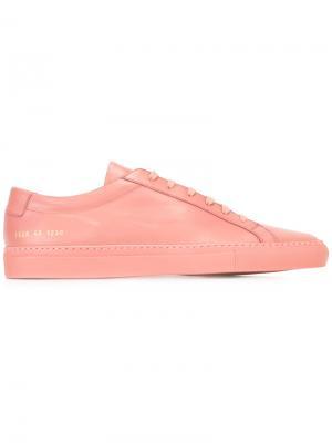 Кеды на шнуровке Common Projects. Цвет: розовый и фиолетовый