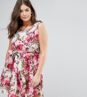 Praslin Платье с цветочным принтом. Цвет: мульти