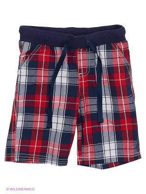 Шорты текстильные для мальчиков PlayToday. Цвет: синий, красный