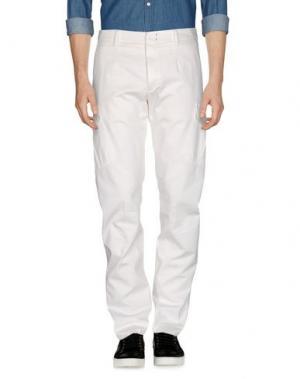 Повседневные брюки G.T.A. MANIFATTURA PANTALONI. Цвет: слоновая кость