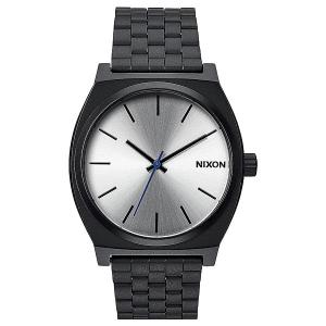 Кварцевые часы  Time Teller Black/Silver Nixon. Цвет: черный,серый