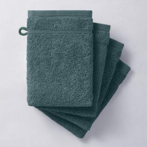 4 банные рукавички, 600 г/м². Качество Best La Redoute Interieurs. Цвет: бежевый,белый,гранатовый,зелено-синий,зеленый мох,розовая пудра,светло-синий,синий морской,фиолетовый