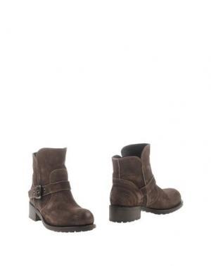 Полусапоги и высокие ботинки TREMP. Цвет: свинцово-серый