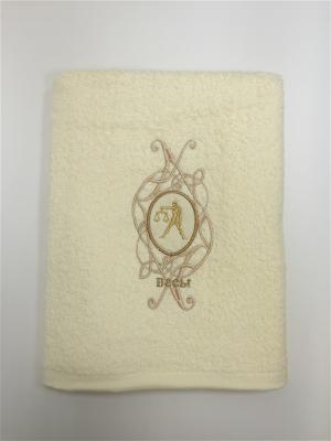 Полотенце A and C Collection. Цвет: белый, желтый
