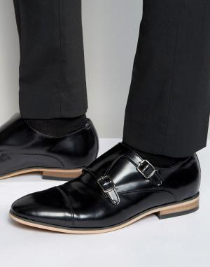 Dead Vintage Черные кожаные монки. Цвет: черный