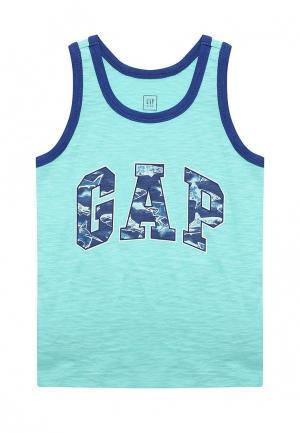 Майка Gap. Цвет: бирюзовый