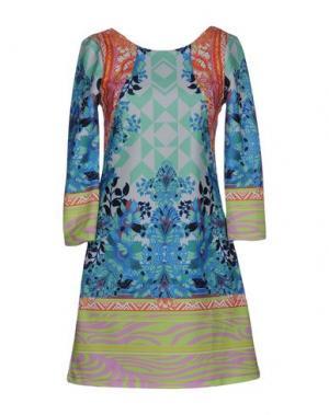 Короткое платье CUSTO BARCELONA. Цвет: светло-зеленый
