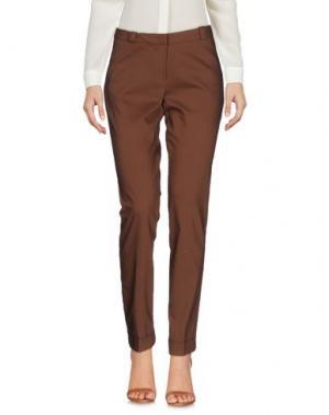 Повседневные брюки KAOS. Цвет: коричневый