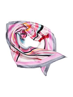 Платок Kameo-bis. Цвет: розовый, черный, серый
