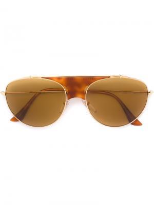 Солнцезащитные очки Lèon Thompson Retrosuperfuture. Цвет: коричневый