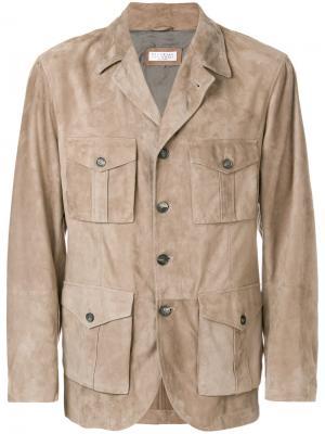 Куртка с карманами карго Brunello Cucinelli. Цвет: телесный