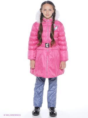 Пальто Батик. Цвет: розовый