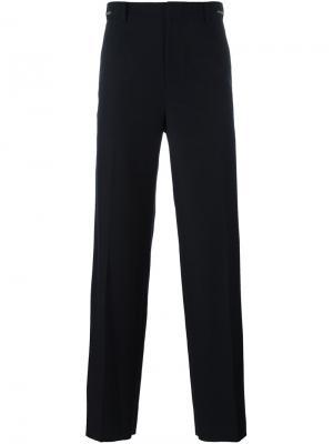 Широкие брюки System Homme. Цвет: синий