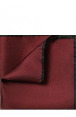 Шелковый платок с контрастным кантом Dolce & Gabbana. Цвет: бордовый