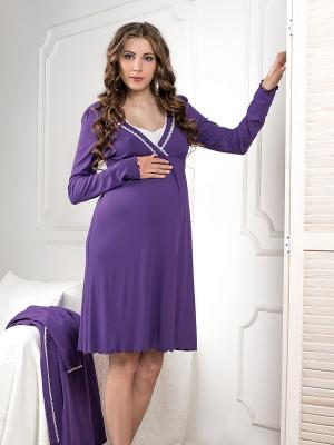 Сорочка Hortensia Nid d'Ange. Цвет: фиолетовый