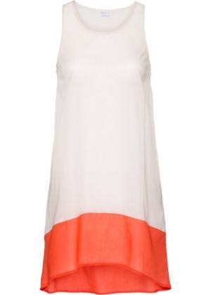 Пляжное платье (бежевый/оранжевый) bonprix. Цвет: бежевый/оранжевый