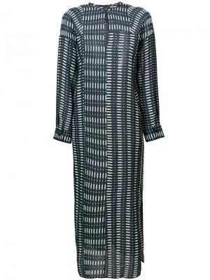 Удлиненное платье с вышивкой Zero + Maria Cornejo. Цвет: синий
