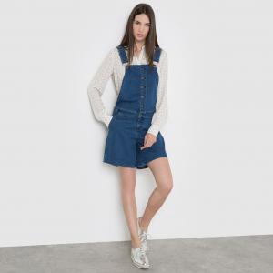 Комбинезон-шорты из джинсовой ткани MADEMOISELLE R. Цвет: синий потертый