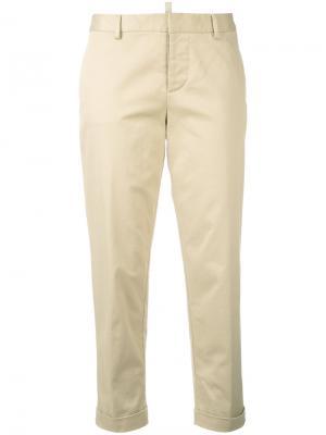 Укороченные брюки Dsquared2. Цвет: телесный