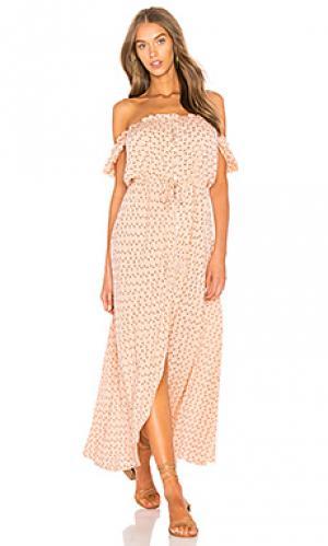 Дневное платье на пуговицах leila AUGUSTE. Цвет: розовый