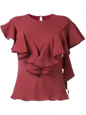 Блузка Sylvie Bianca Spender. Цвет: красный