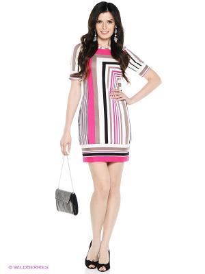 Платье VENUSITA. Цвет: розовый, белый, черный
