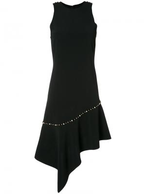 Асимметричное платье с жемчужной отделкой Jonathan Simkhai. Цвет: чёрный