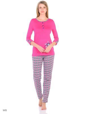 Пижама Flip. Цвет: малиновый