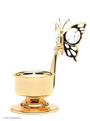Подсвечник Бабочка Юнион. Цвет: золотистый, прозрачный