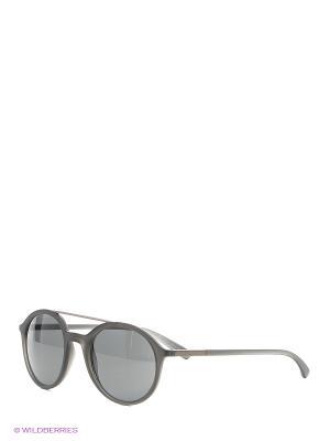 Солнцезащитные очки Giorgio Armani. Цвет: серый