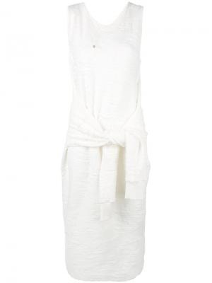 Платье с узлом спереди Chalayan. Цвет: белый